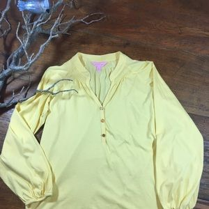 Lilly Pulitzer yellow top
